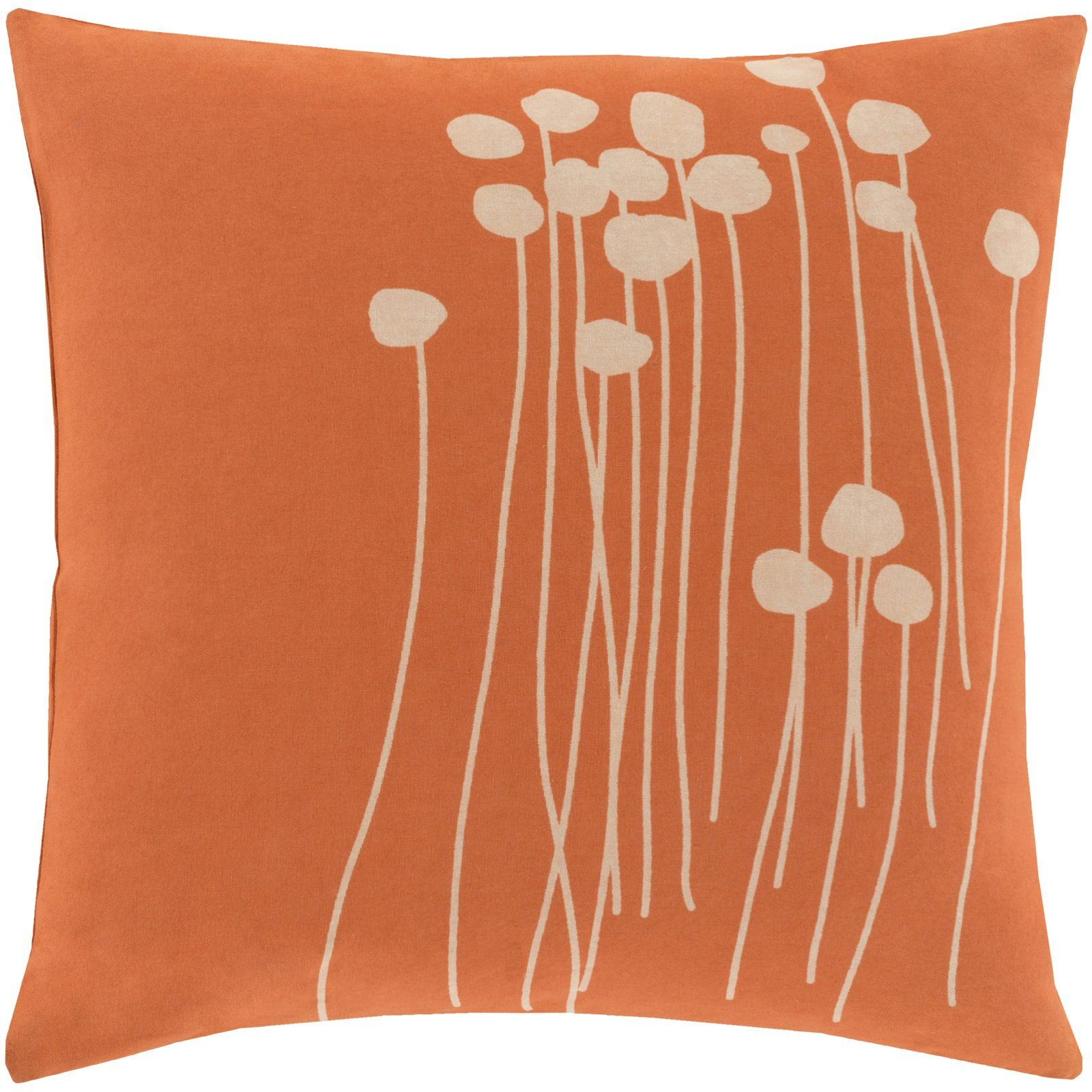 Fayette Cotton Down Floral Throw Pillow Insert Floral Throw Pillows Throw Pillows Flower Throw Pillows