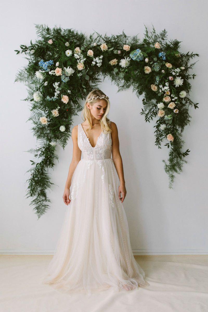 Abigail of Gardenia Wedding Dresses | Gardenias, Floral arch and ...