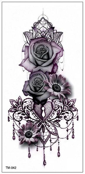 Photo of Gothic Rose Mandala Chandelier Back Tattoo ideas for Women – Traditional Vintage…