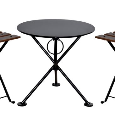 French Bistro Round Steel Outdoor Tripod Folding Coffee Table Detail Folding Coffee Table Round Coffee Table Living Room Elegant Coffee Table