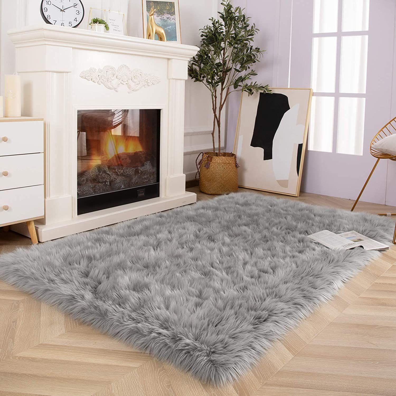 Luxury Soft Rug In 2021 Faux Sheepskin Rug Faux Fur Area Rug Bedroom Rug [ 1500 x 1500 Pixel ]