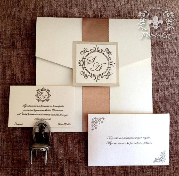 Invitaciones Sofia Y Alejandro Cuadradas Con Cintillo De Liston Con Sobre Mini Para Wedding Invitationsmoneyflowerwedding