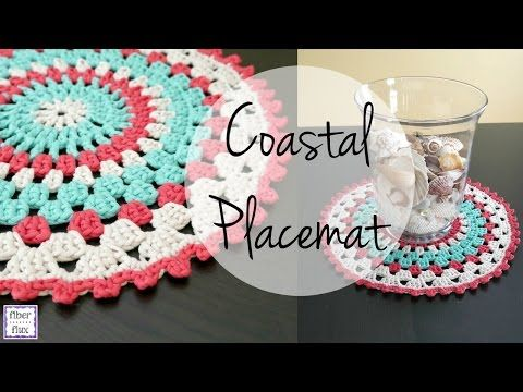The Coastal Placemat Makes A Lovely Addition To A Summertime Table Make A Few For Each Guest A Crochet Placemats Crochet Placemat Patterns Placemats Patterns