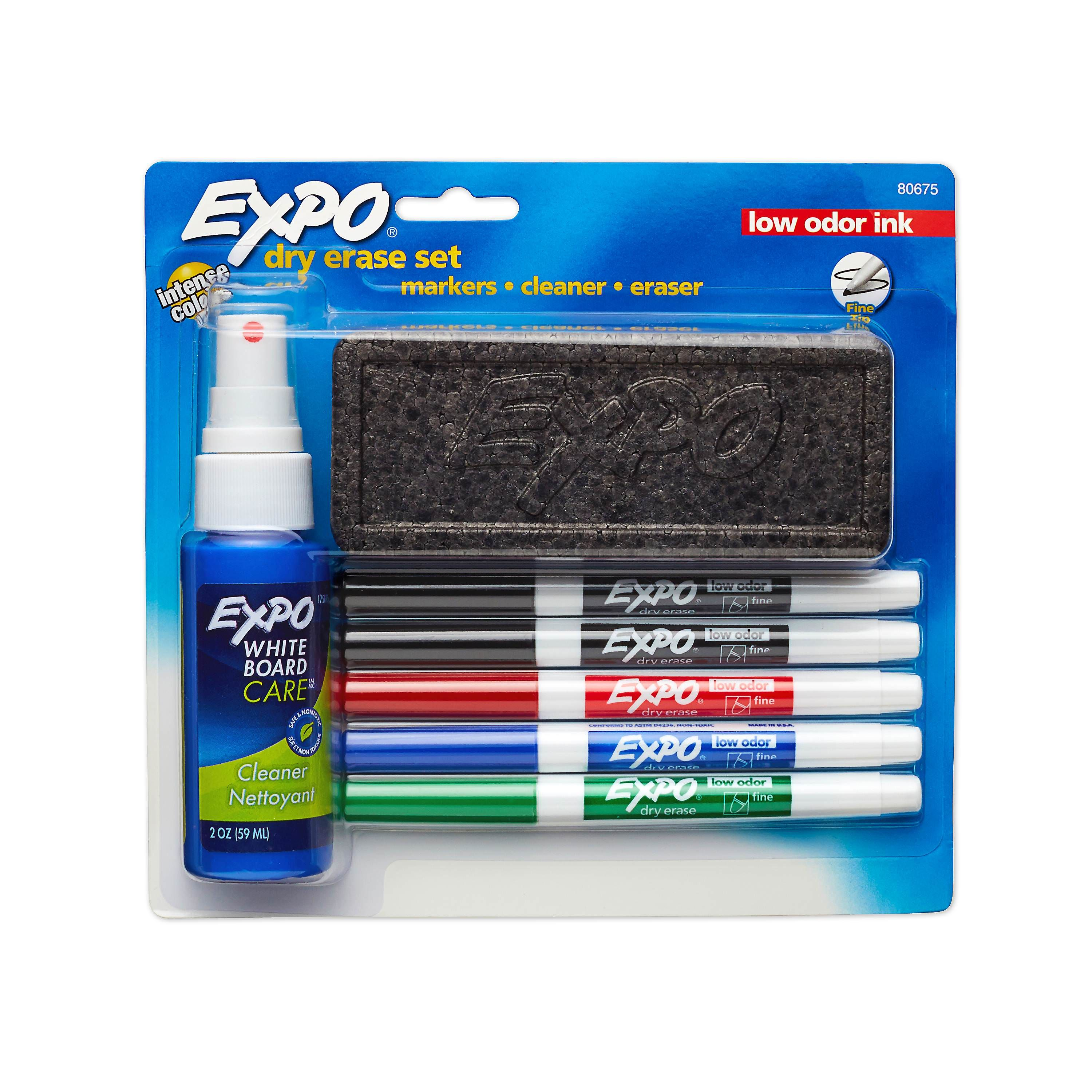 Expo Dry Erase Marker Starter Set Fine Tip Assorted Colors 7 Piece Kit Walmart Com Dry Erase Dry Erase Markers Office Supplies Diy