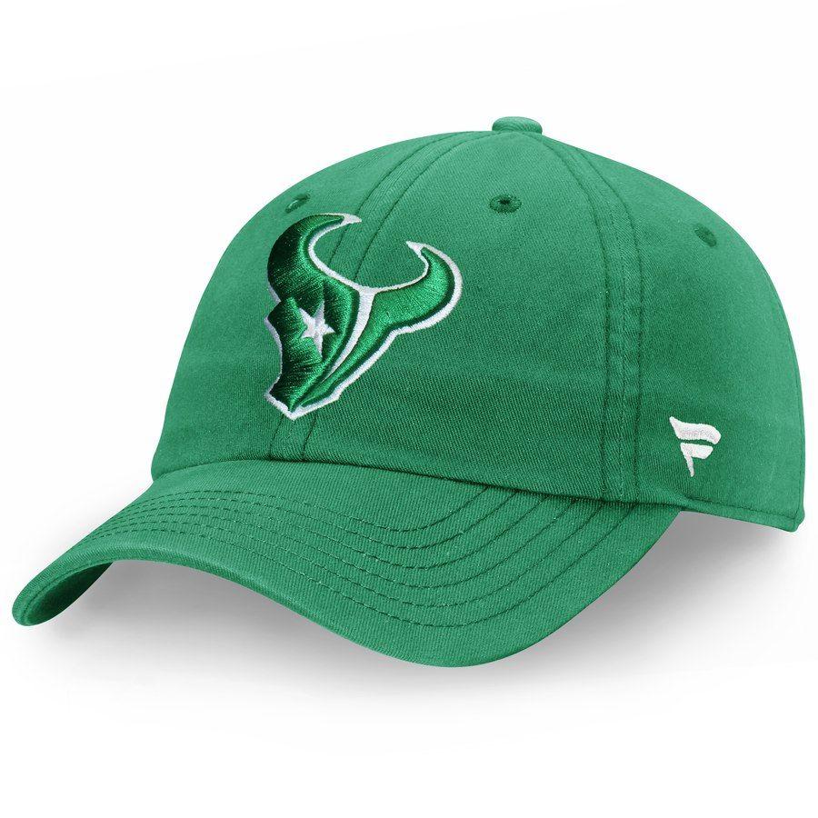 cd5e9ae695f Men s Houston Texans Pro Line by Fanatics Branded Kelly Green St. Patrick s  Day Fundamental Adjustable Hat