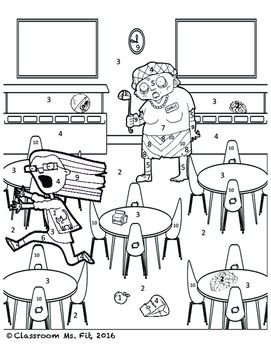 Quadrilateral Properties Zombie Coloring Page Quadrilaterals Struggling Students Coloring Pages