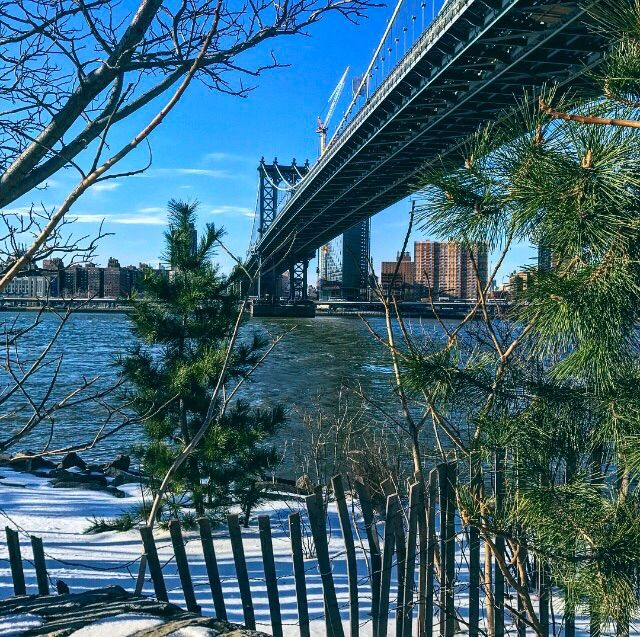 Manhattan Bridge from Main Street Park