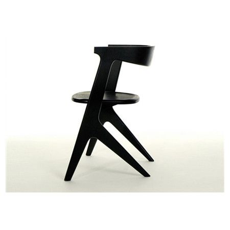 Slab Arm Chair In Black By Tom Dixon
