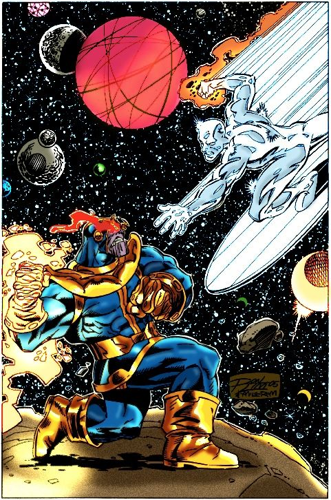 thanos vs silver surfer | Marvel comics | Pinterest ...