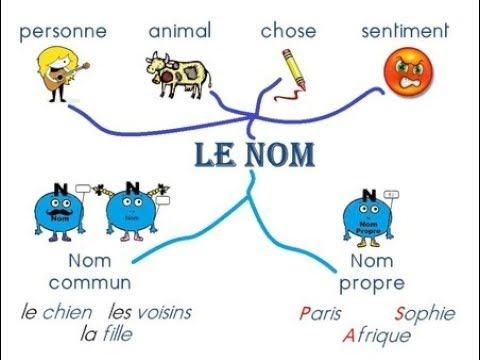 Les Noms Propres Les Noms Communs Youtube Learn French French