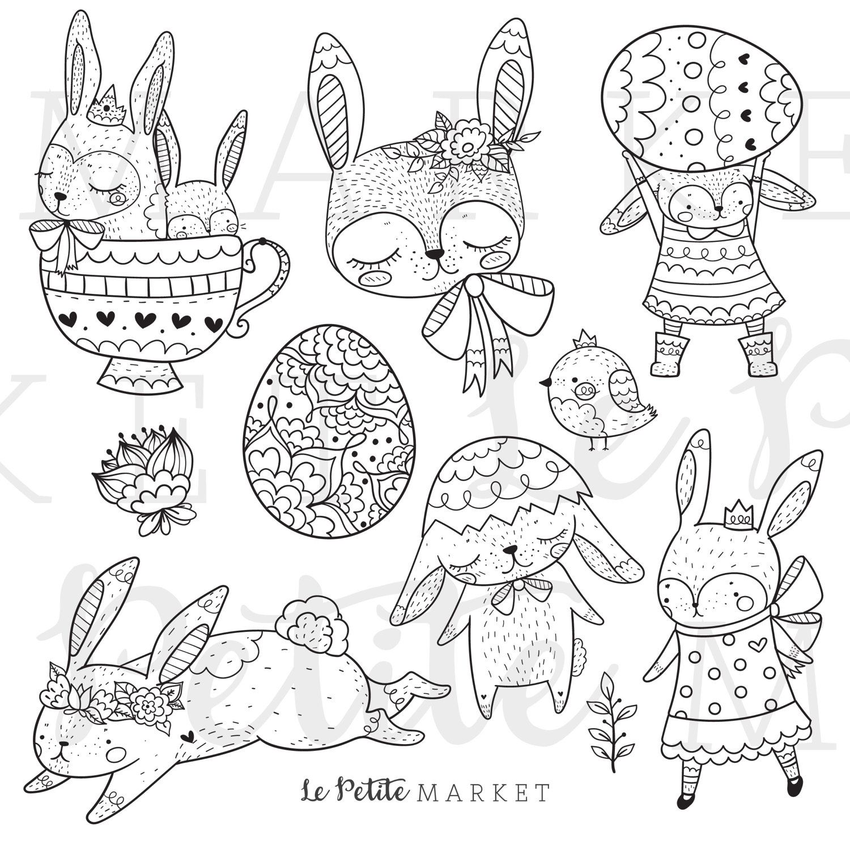 Cute Bunny Rabbit Clip Art Bunny Clip Art Spring Animals