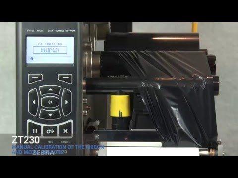 Zebra Zt230 How To Manually Calibrate Ribbon And Media Sensors Youtube Zebra Printer Zebra Sensor