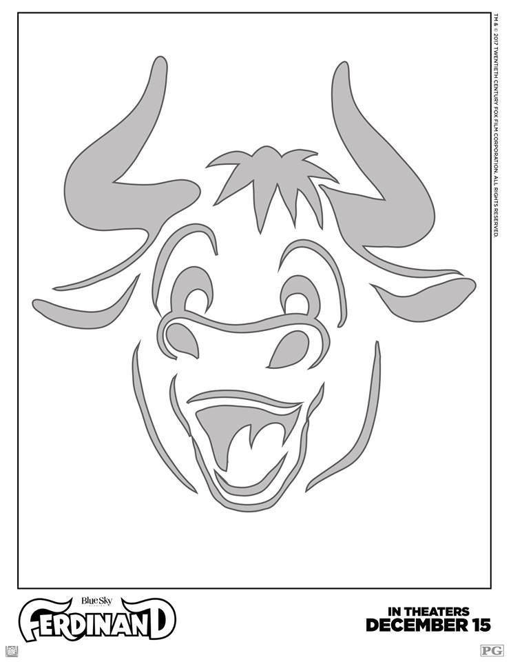 Create your very own Ferd O\'Lantern! #Ferdinand #PumpkinStencil ...