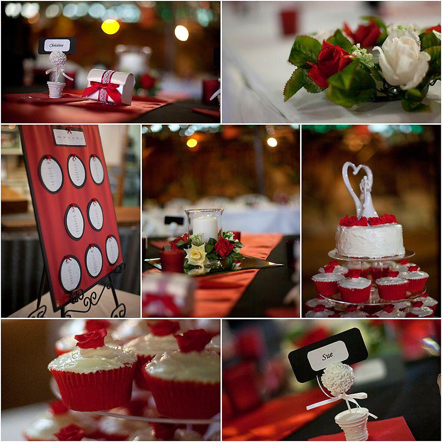 Red Wedding Ideas Reception: Red And Black Wedding Reception