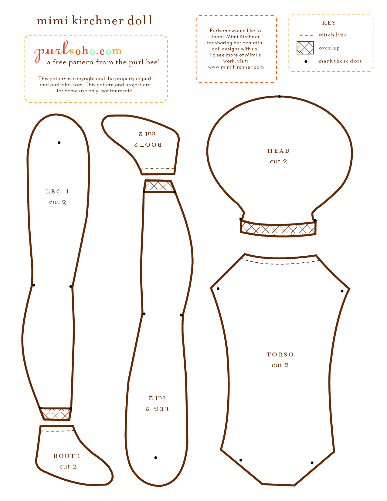 It is a graphic of Tactueux Printable Rag Doll Patterns
