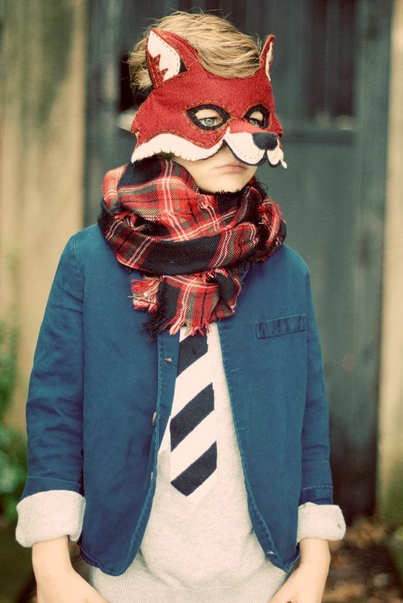 PRESALE Fox Mask Handmade Felt Embroidered by AntlerCollective ...