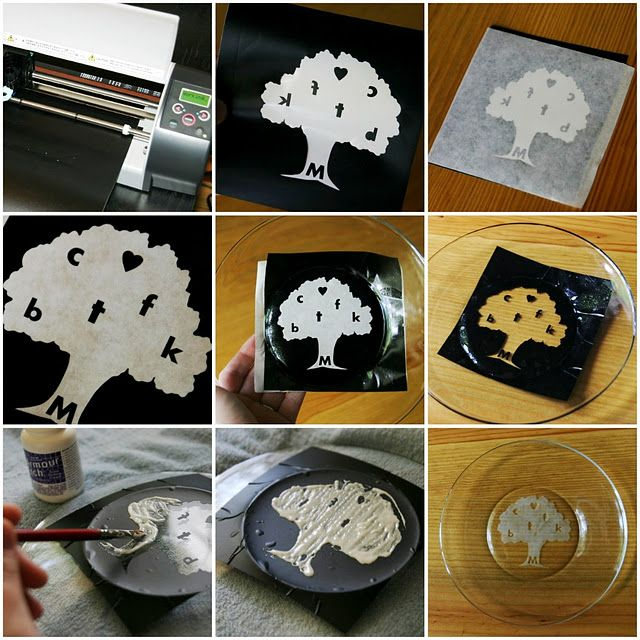 Etched Mommy Tree Plate Dyi Crafts Craft Projects Crafts