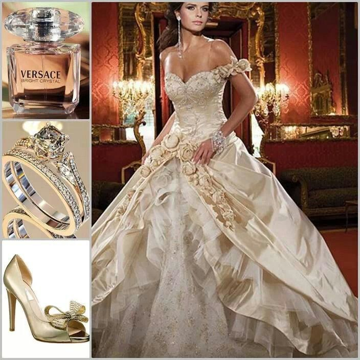 Wedding Dress White And Gold: Versace.White Gold.Cinderelly.White Gold Wedding Ball