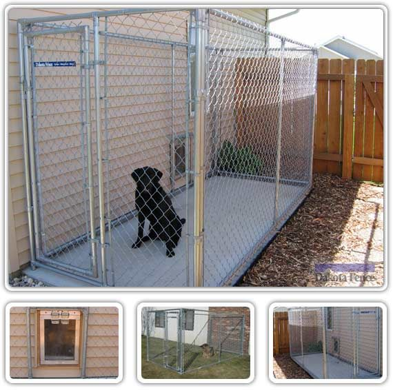 Dog 570 566 home pinterest chain link for Dog kennel in garage ideas