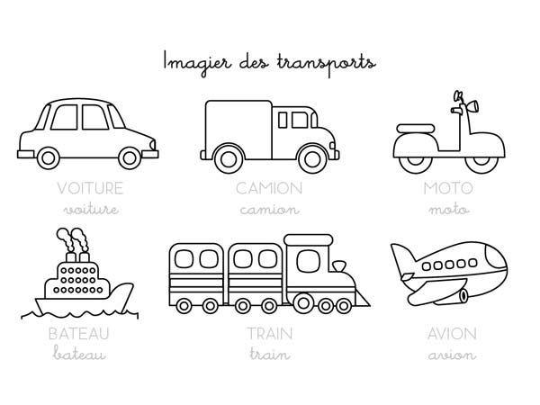 Coloriages transports imagier coloriage pinterest transport imagier et moyen de transport - Coloriage transport ...