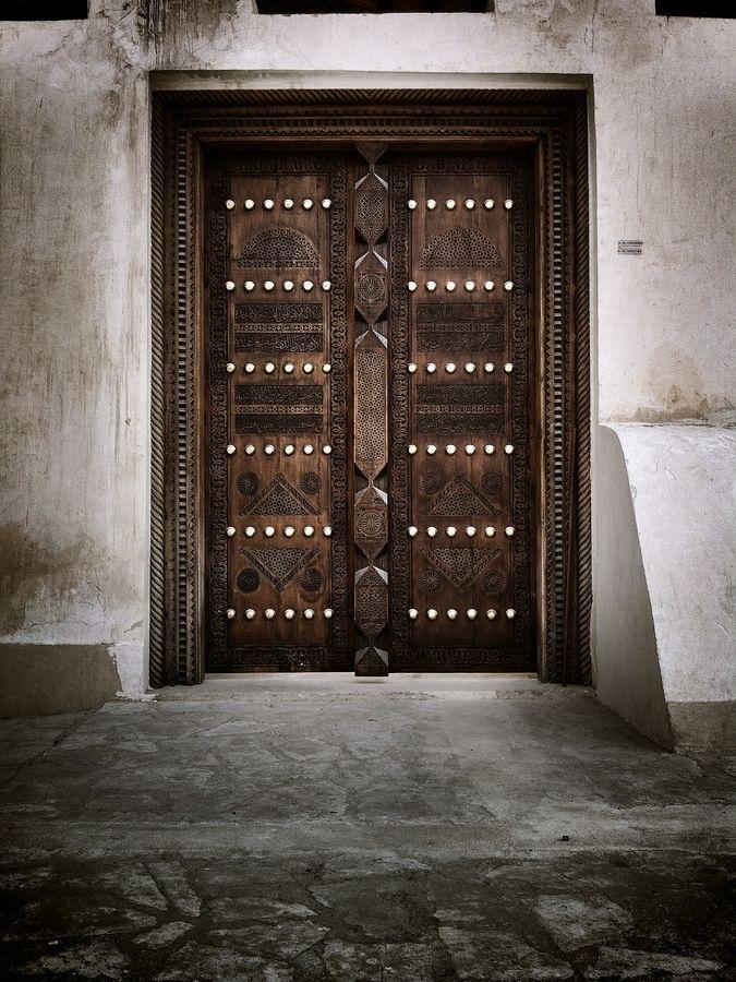 Traditional Arabic Wooden Door In A Masjid Mosque Around