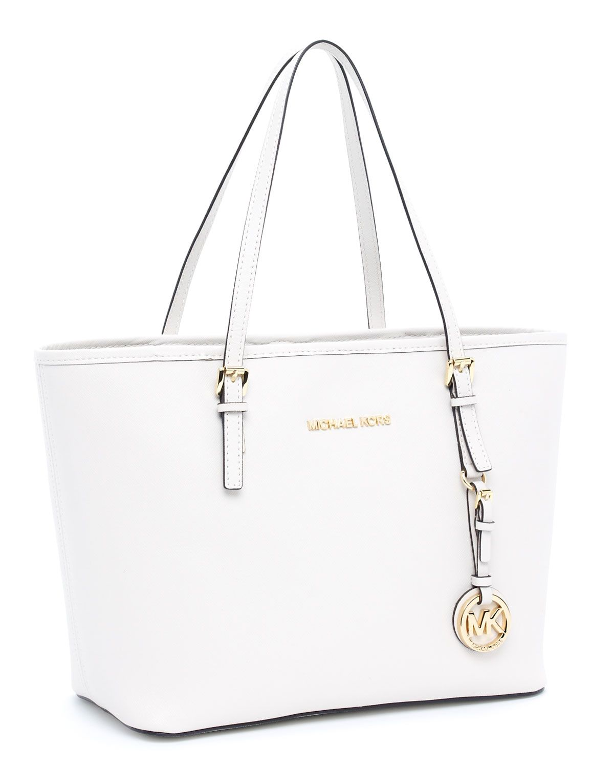 Michael Kors Jet Set Travel Small Travel Tote in white