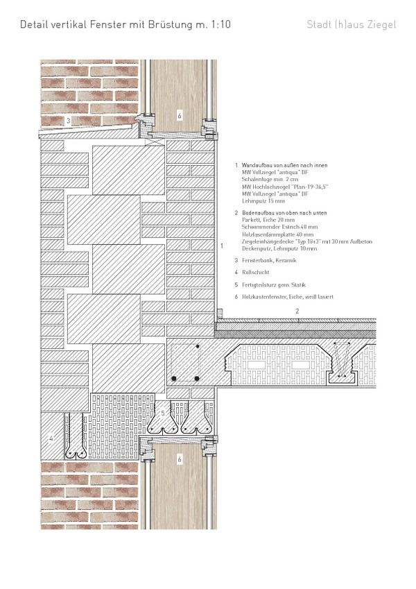 Projekt Fensterdetail Ziegel, Layout architecture
