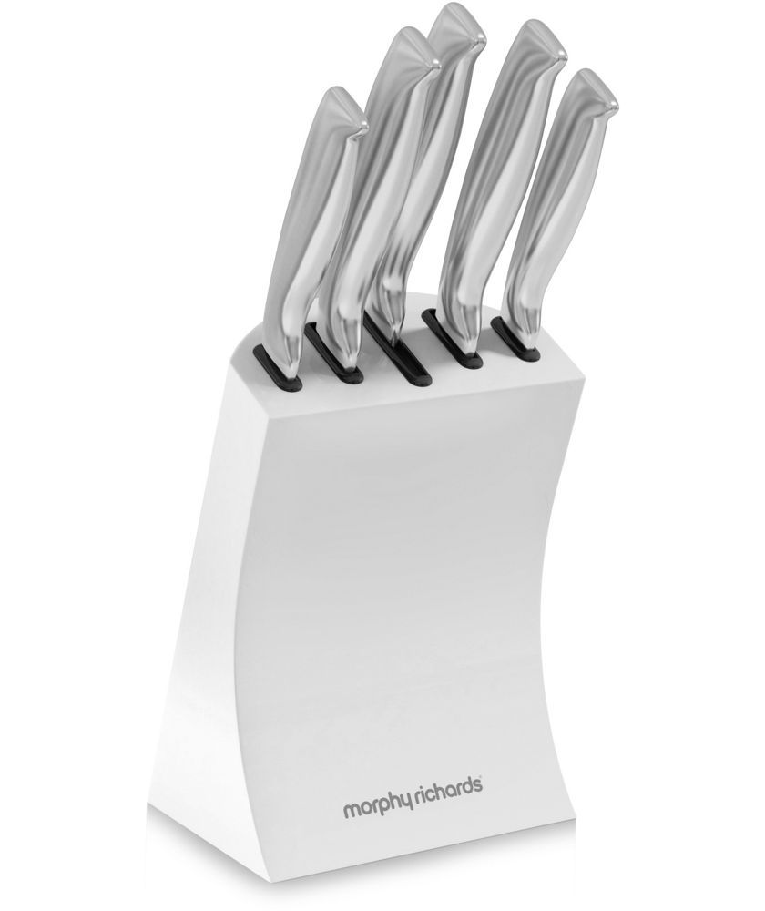 Buy Morphy Richards Accents 5 Piece Knife Block - White at Argos.co ...