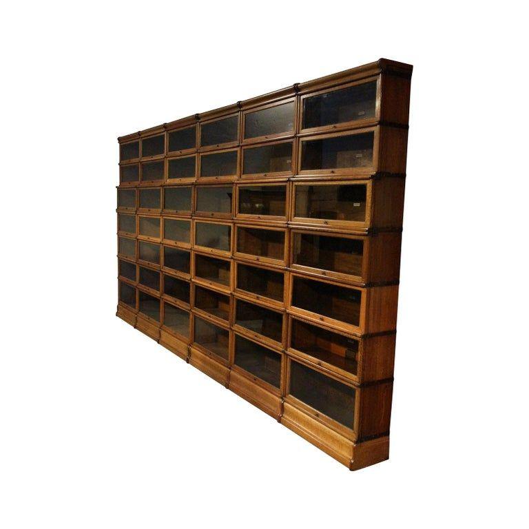 1stdibs Oak Globe Wernicke English Bookcase Bookcase Shelves Globe