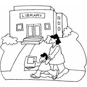 Library Coloring Page Clip Art Coloring Pages Library