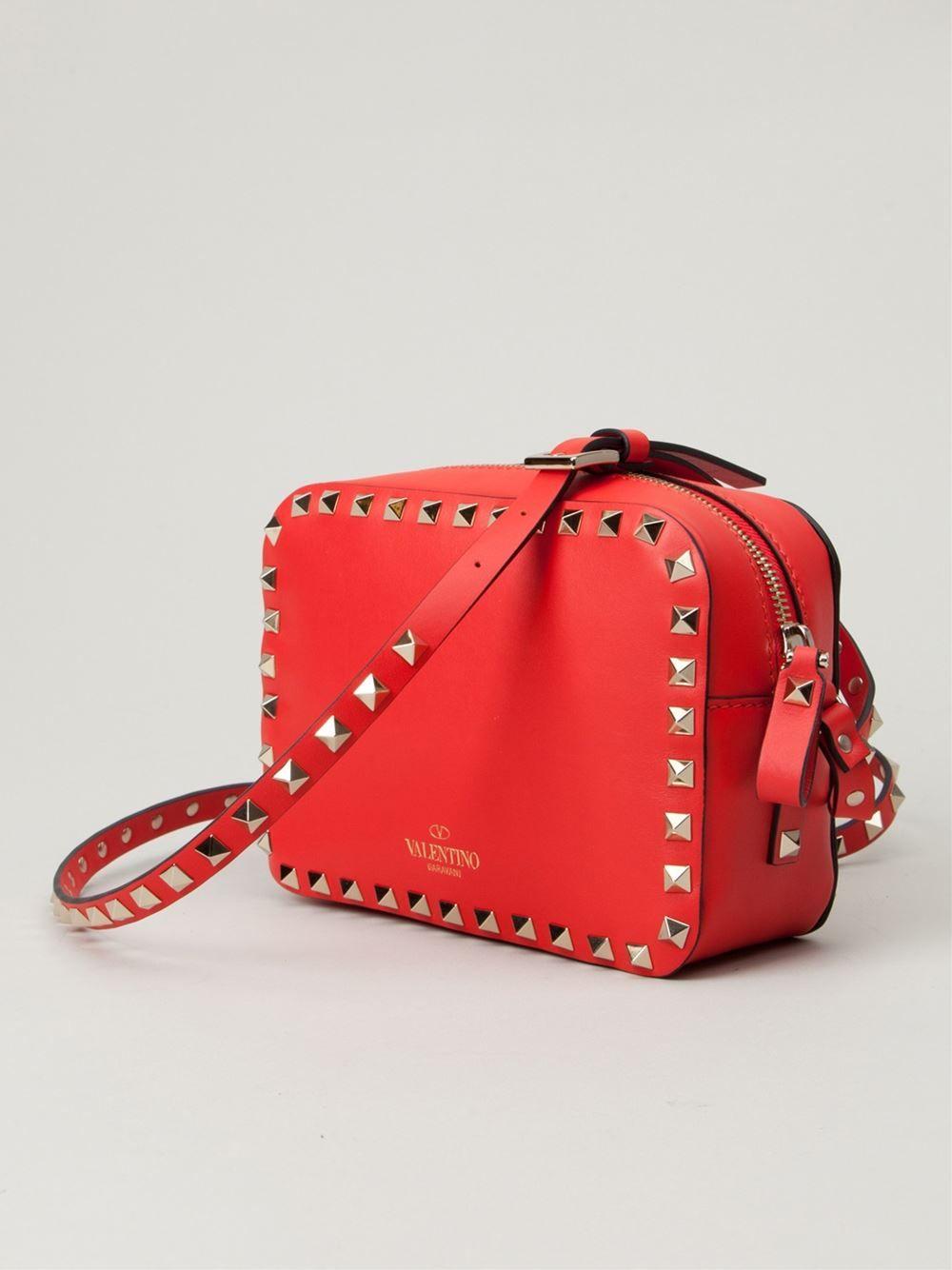 Red Rockstud cross-body bag Valentino sf00C