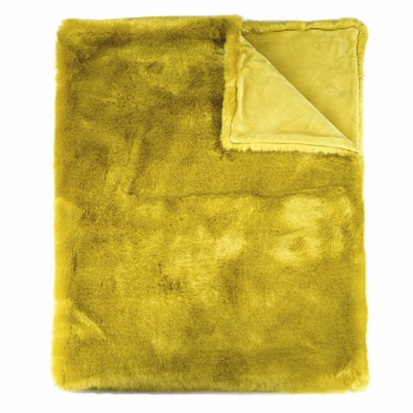 Mustard Yellow Throw Blanket Enchanting Mustard Yellow Sheridan Faux Fur Throw 505 Aud ❤ Liked On Inspiration