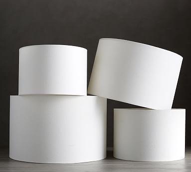 Gallery Shade Mediummediumlinen Cottonwhite Drum Lampshade Lamp Shade Contemporary Lamp Shades