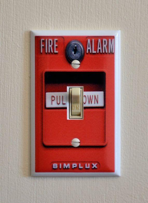 Decorative Bedroom Alarm Clocks: Fire Alarm Light Switch Wall Plate Cover