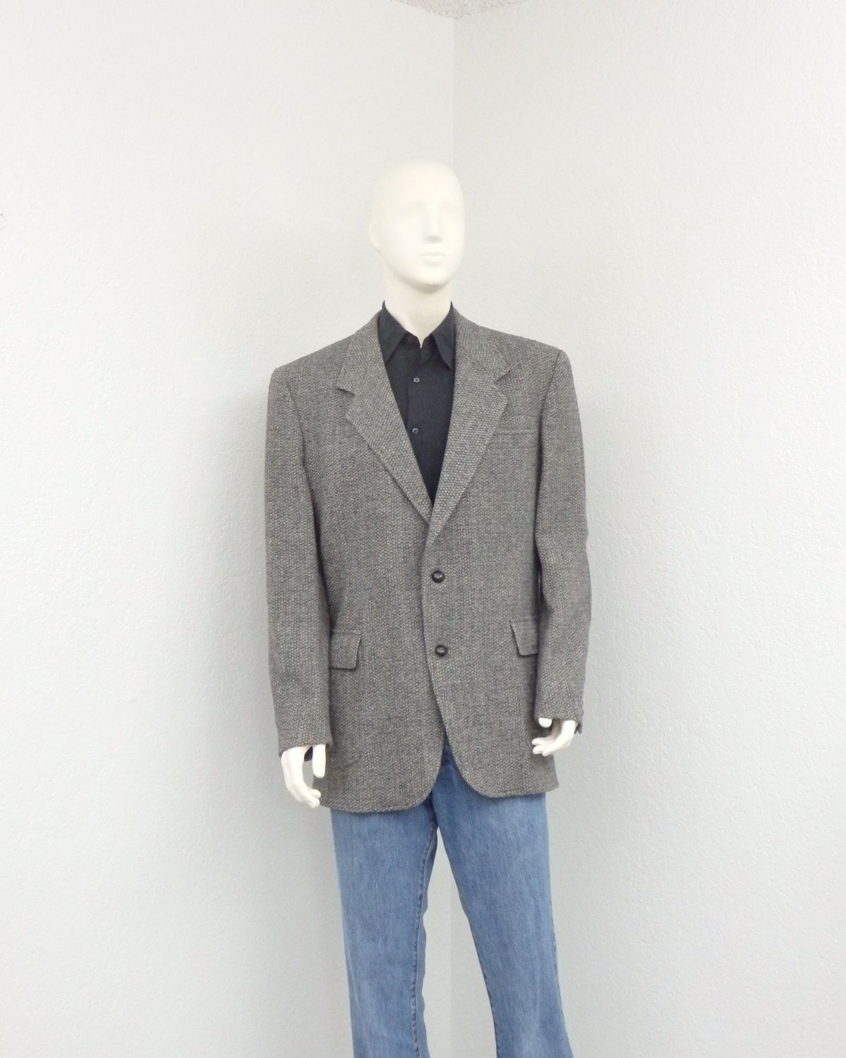 Vintage 80s Pendleton Wool Gray Tweed Blazer Jacket Elbow Patch Blazer  Sport Coat Mens Blazer Tweed Jacket vtg vintage blazer 1980s 80s blazer  pendleton ...