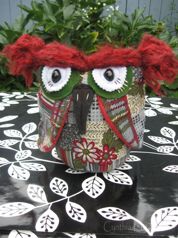 Avril a Small Corduroy Owl by VagabondArtistry