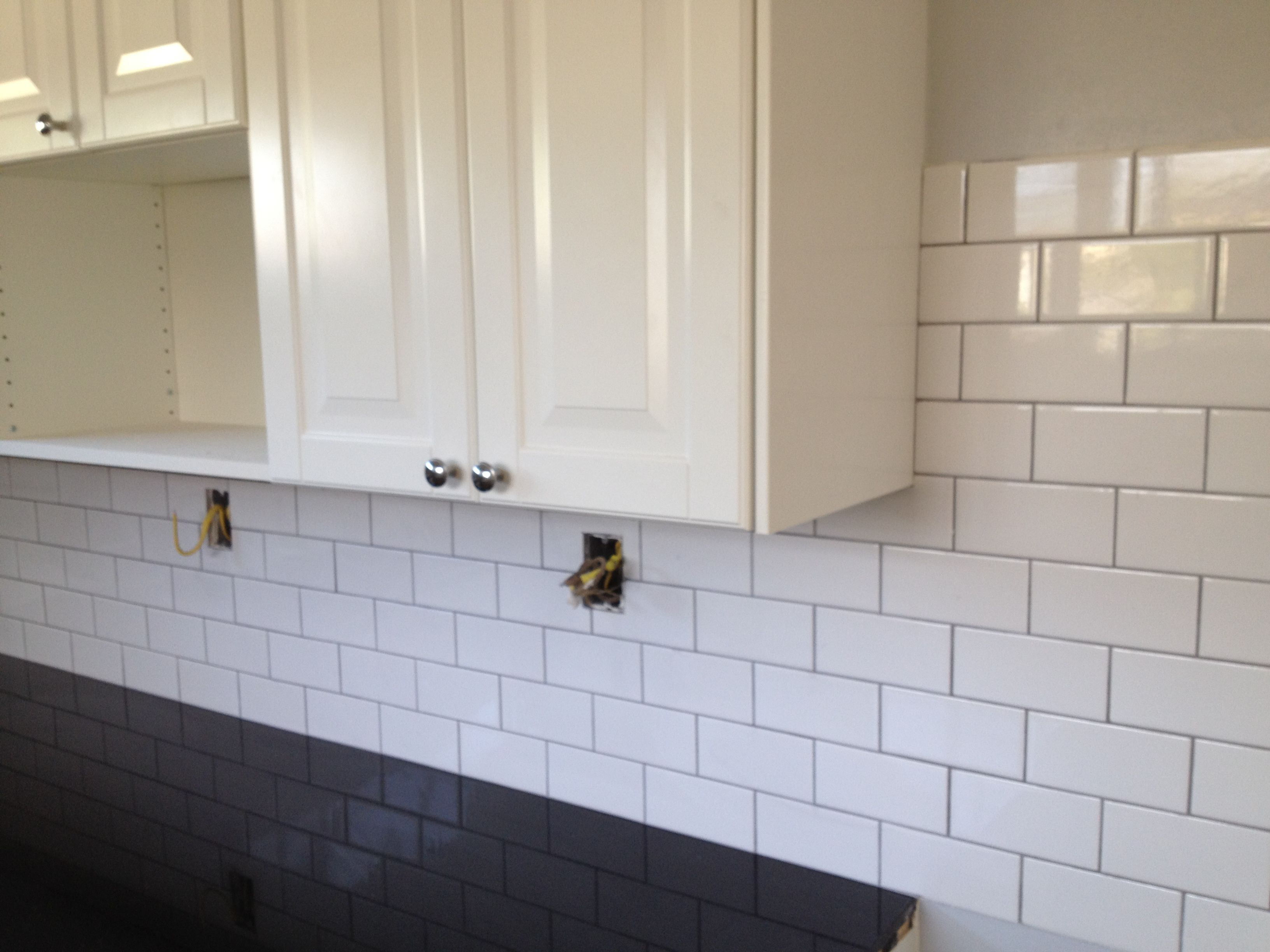Gray tile gray grout google search kitchen ideas pinterest gray tile gray grout google search gray tileswhite subway dailygadgetfo Choice Image