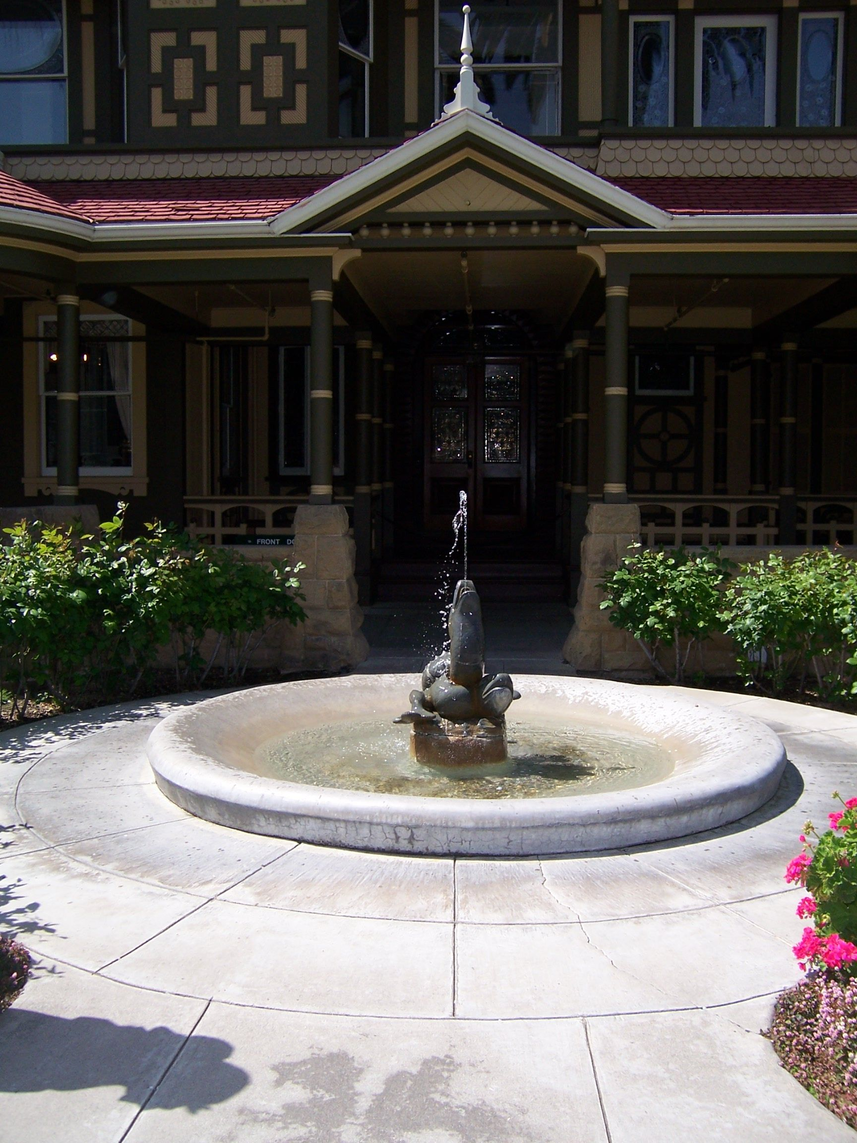 Front Door And Fountain Winchester Mystery House Pinterest