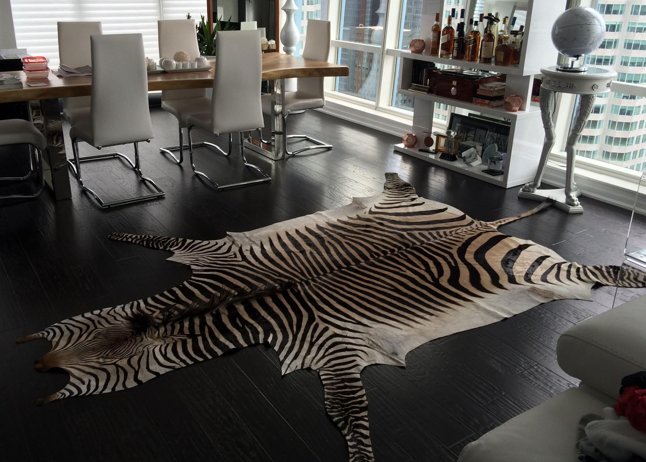 Real Zebra Skin Rug Can Change A Room Thanks To Our Toronto Client For Sharing This Photo With Cowhidesusa