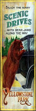 Rustic  Vintage Sign Bear Jams Yellowstone Lodge Signs rustic-artwork