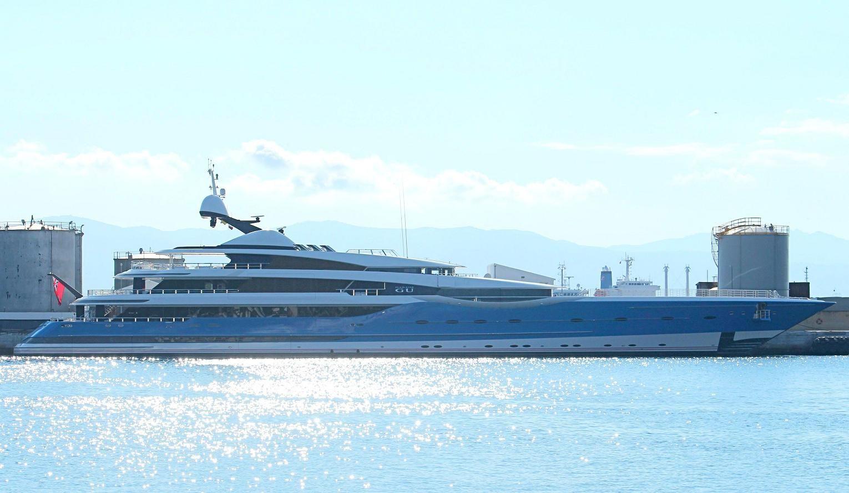 madame gu yacht   Feadship's Madame Gu refuelling in Gibraltar