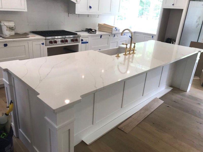 Quartz Kitchen Slab Large Kitchen Island Designs Kitchen Island Design