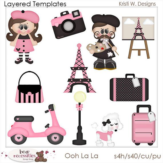 oh la la french paris france eiffel tower by marlodeedesigns 5 00 rh pinterest com Uh-Oh No Clip Art Oh Oh Face Clip Art