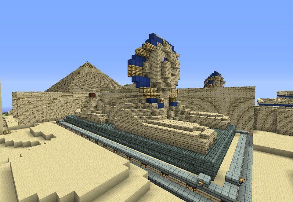 Minecraft Egypt Map.Minecraft Egypt Project Sphinx Egyptian City Project Pinterest