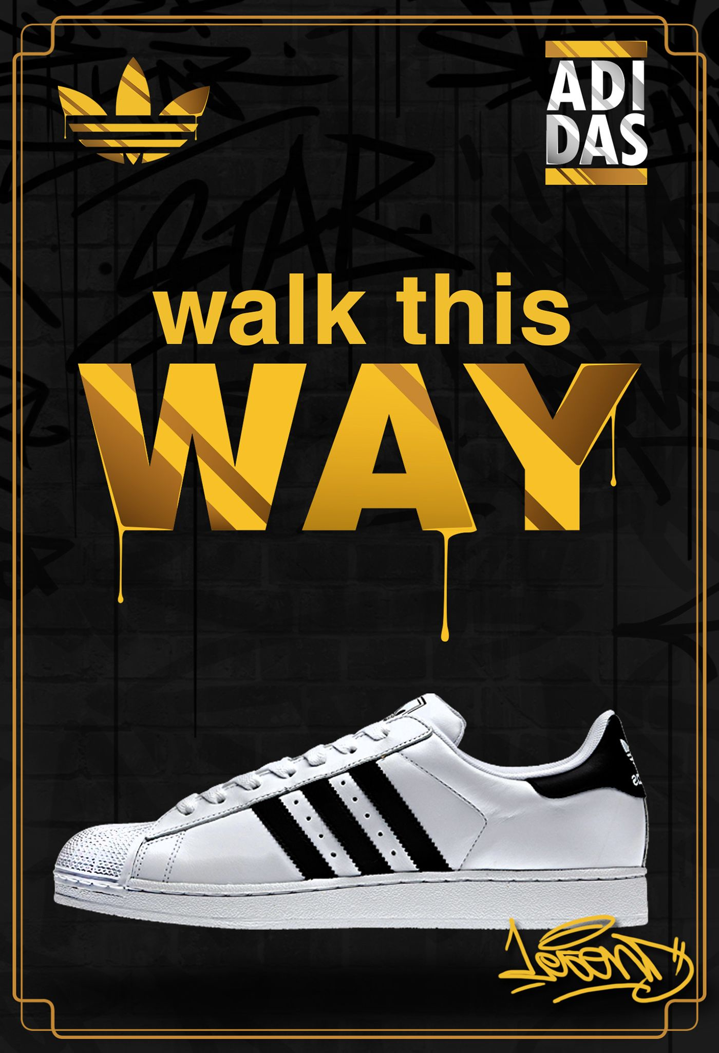 lowest price c2ff7 3a12a ADIDAS SuperStar   RUN DMC on Behance