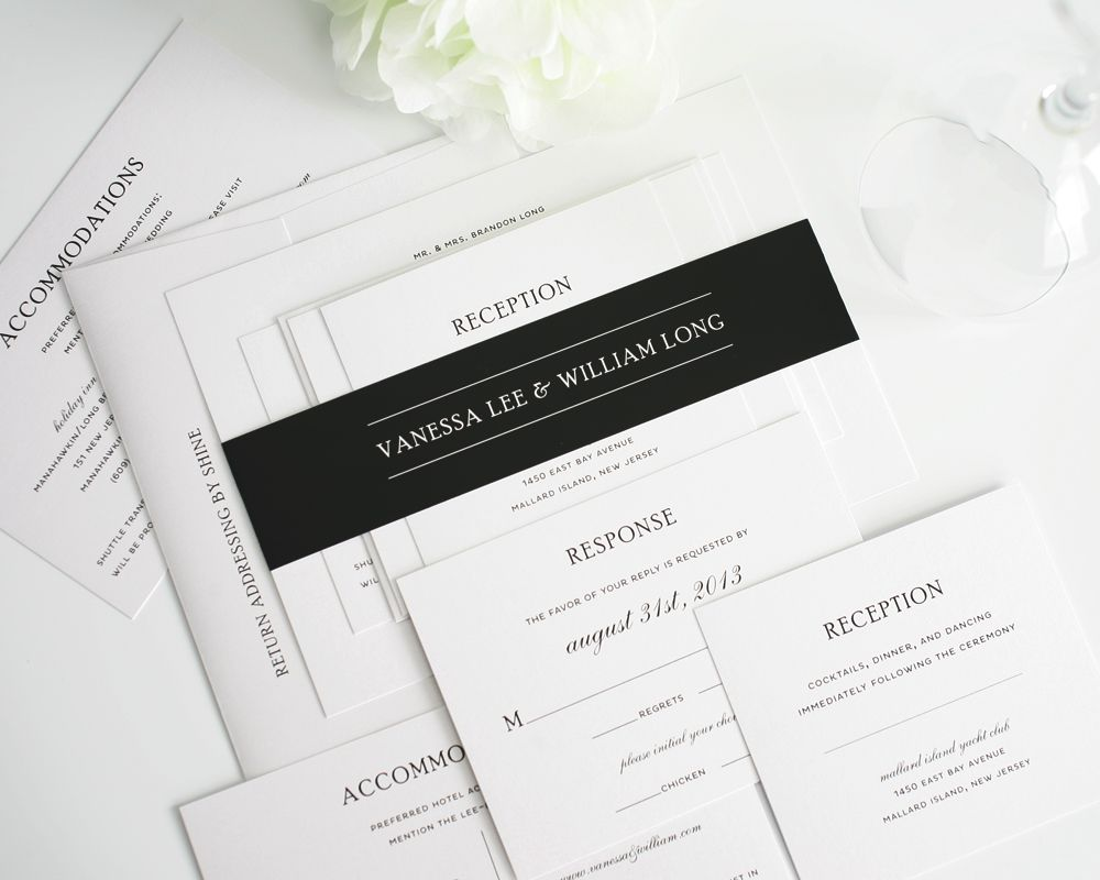 Simple Elegance Wedding Invitations   Simple wedding invitations ...