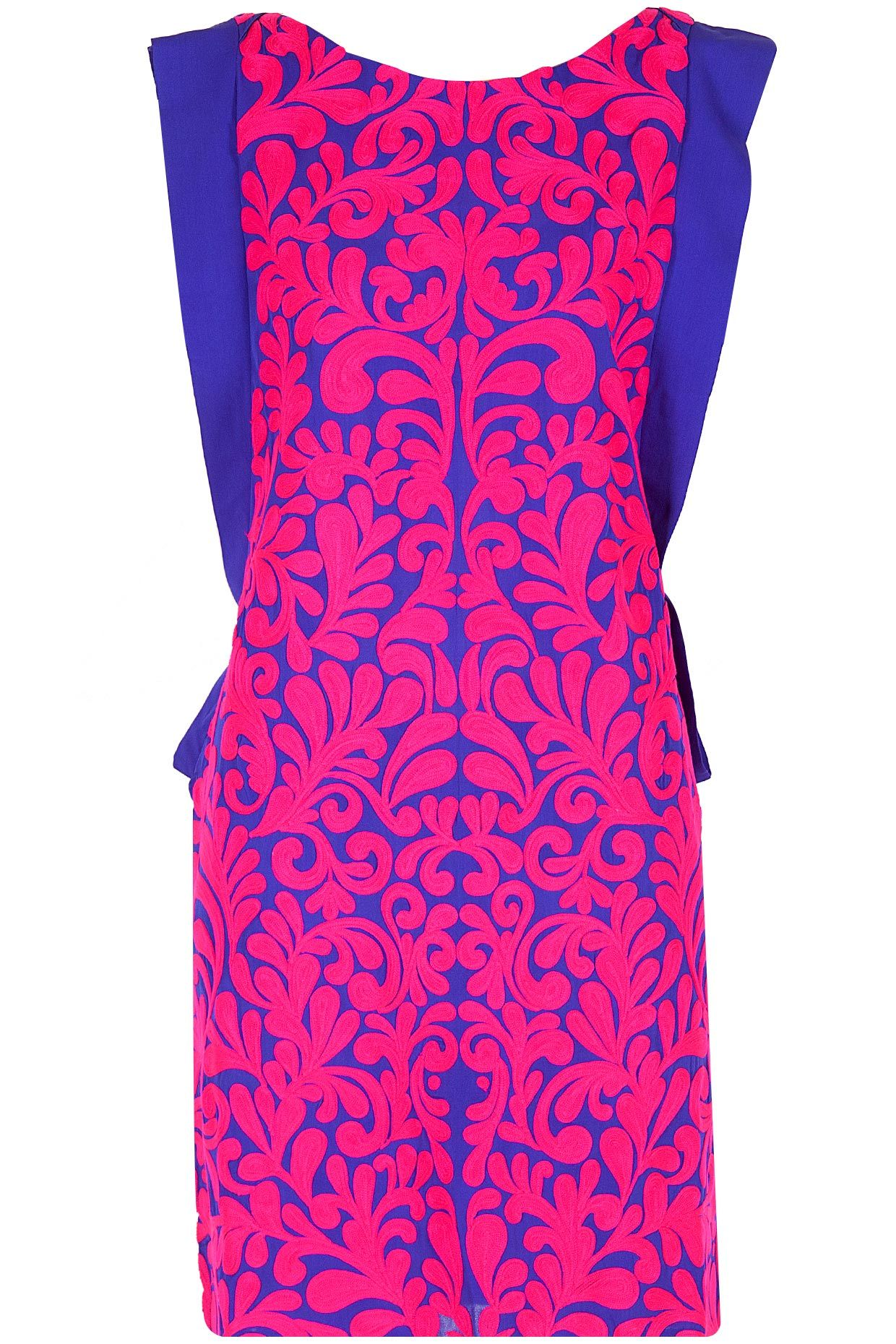 Blue and fushia embroidered dress | fashion. | Pinterest | Mexico ...