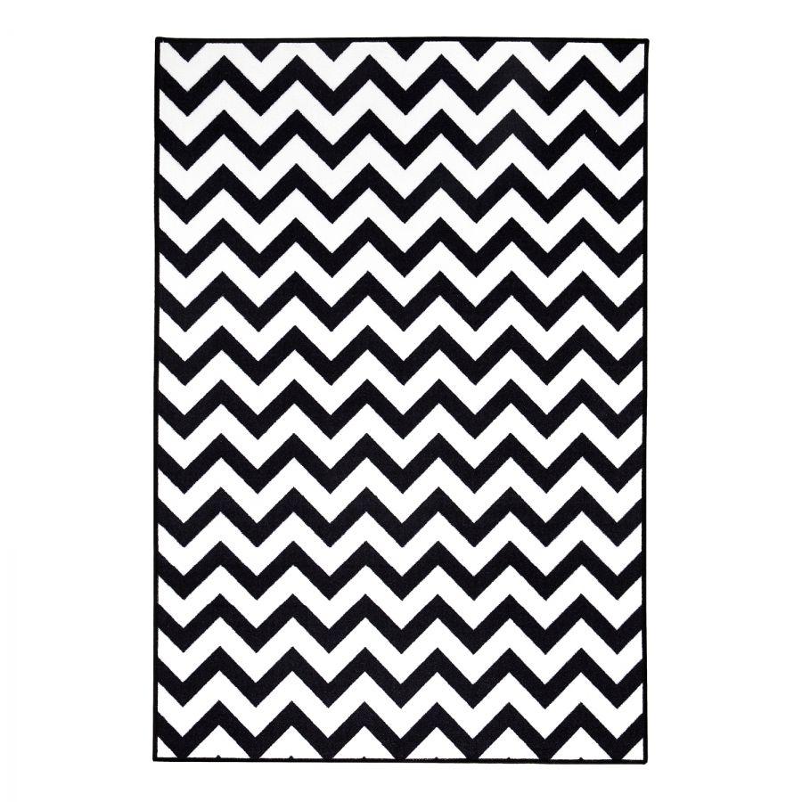Teppich MICHALSKY Greenwich - Kunstfaser - Schwarz / Weiß - 160 x ...