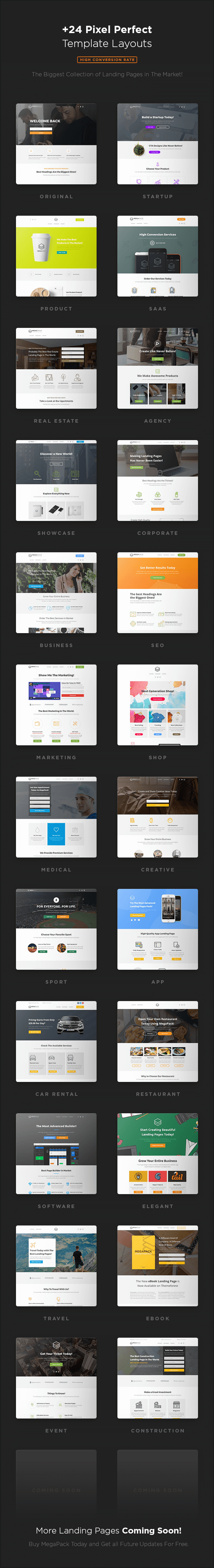 MEGAPACK – Premium Marketing Landing Page Templates Pack With ...