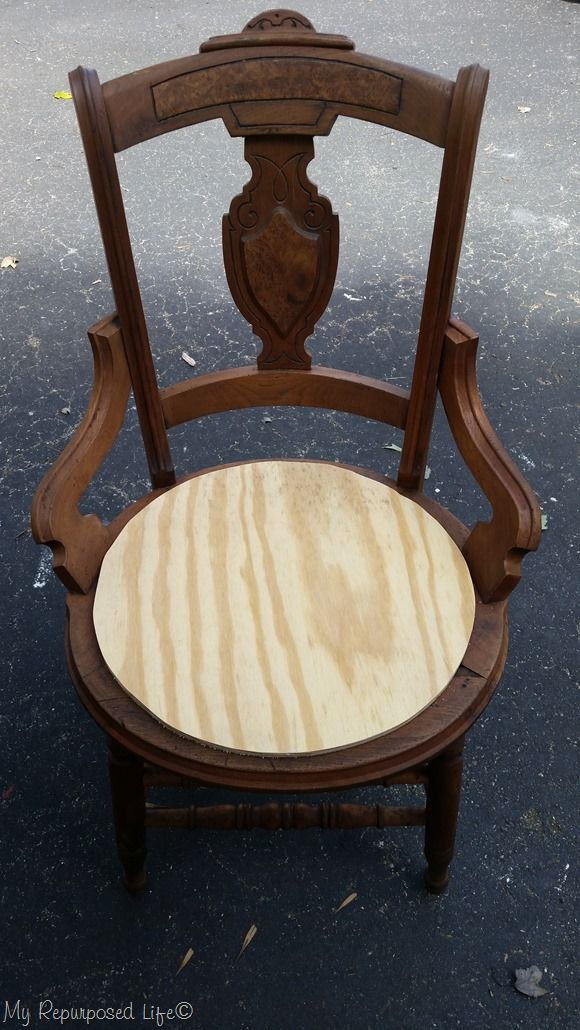 antique cane chairs used facial chair makeover with upholstered seat diy old gets a new wooden